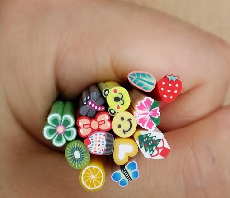 New 500pcs lot nail art 3d fruit fimo rods canes polymer for 3d nail art fimo canes rods decoration