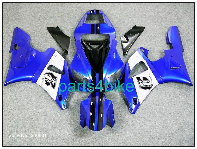 blue white black B YZFR1 1998 1999 YZF-R1 1998 1999 ABS Fairing Kit Set Fit For yamaha YZF R1 1998 1999(China (Mainland))