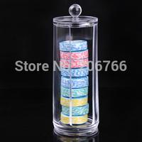 Free Shipping Wash Towel StorageTube Storage Bowl Washing Cotton Deerskin Towel Acrylic Storage Box