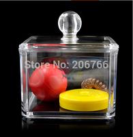 Free Shippng Acrylic Cosmetics Jewelry Storage Box Cotton Pad Storage Box Make-up Box 9*9*6.5cm