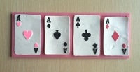 Playing Cards Shape Fondant 3D Silicone Mould Cake Decoration Emboss Fondant Chocolate Icing Tools-P163