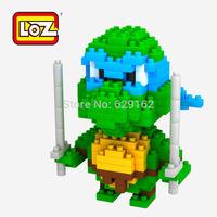 Free Shipping! Creative DIY Diamond Building Block, Kids Educational Toys, Teenage Mutant Ninja Turtles Leonardo Christmas Gifts
