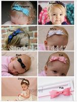 10pcs /lot 17 colors Baby Bow Headband Hair Bow Headbands Infant Hair Accessories Girls Bow Headband Hair Bow Toddler hairbands