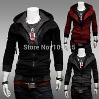 New arrivedFashion Korean Men's Slim Fit Hoodie Sweater Long Sleeve Jacket/Coat/Sweatshirt