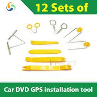 Car audio systems, navigation systems, radio player ,interior door panel car DVD GPS installation tool 12 sets of