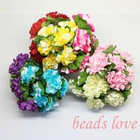 High quality 3.0cm Paper rose Flower / Bouquet Scrapbooking artificial Rose flowers Pick color(144pcs/lot)(w02573-2580)