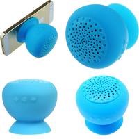 Free shipping  Blue Mushroom Mini Wireless Bluetooth Speaker Waterproof Silicone Sucker Hands Free Speakers For Phone  blue