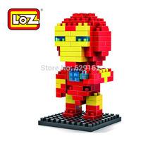 Hot Sale! Iron Man DIY Toys. Loz 9158 130pcs/1set High Quality ABS Plastic Diamond Building Blocks. Children's Educational Dolls