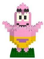 Free Shipping! SpongeBob Patrick Star DIY Toys. Children's Educational Assembling Toys. Loz 9146, 200Pcs / 1Set. New Year Gifts!