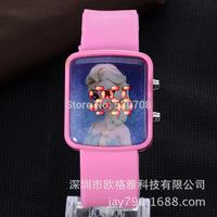 New Fashion Silicone Children Cartoon Watch Popular LED Boys Girls Frozen LED Children Watches Digital Relojes