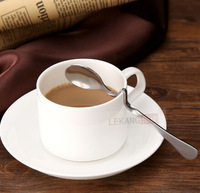 Creative stainless steel long spoon coffee drinks have a long spoon  free shipping FarmerTool Couple spoon