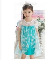 2014 New frozen dress, princess girl dress, in stock,Free Shipping -5