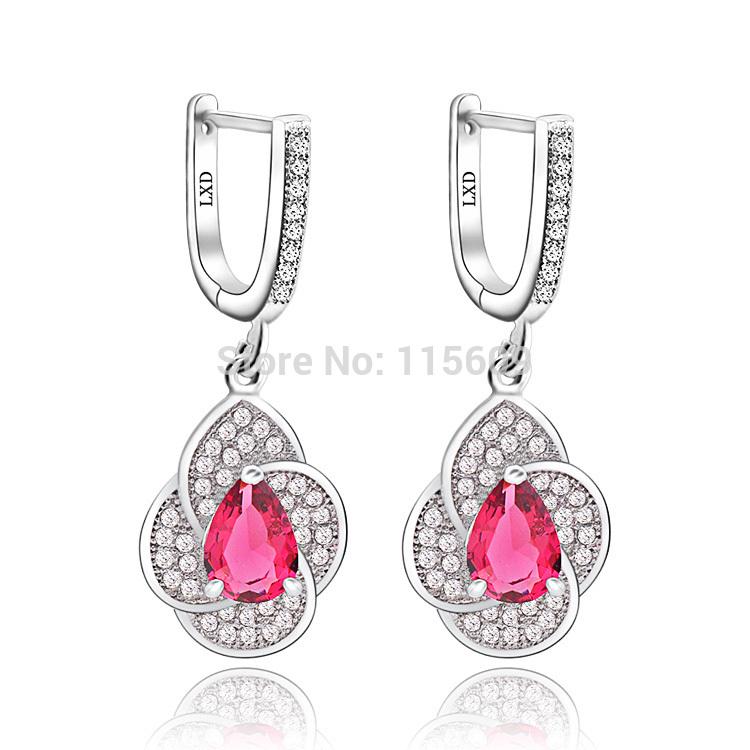 Fashion women dangle earrings for wedding rhinestone jewelry charm crystal drop earing jewellery(China (Mainland))