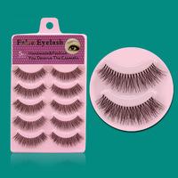 2014 Hot Sell New Brand Cosmetic Professional Makeup Tool False Eyelashes Handmade Thick  Nature Long 5Pairs Per Box