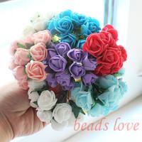 Sale!! 2cm head Multicolor PE Rose foam mini flower /Scrapbooking artificial rose flowers(144pcs/lot)Pick color(W02609-W02617)