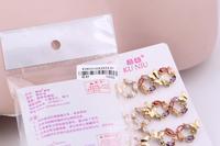 2014 New FASHION Arrival Luxury Brand G Alloy Stud earring Fashion Michaell Rhinestone CrystaFor Women