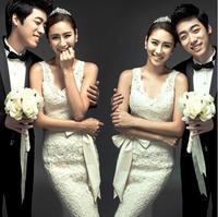 Winter Korean version of the bride wedding dress trailing fishtail lace wedding dress
