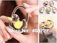 3pcs/lot,bling shiny enamel duck lock shape Purse Hanger Bag Hook Foldable Women Handbag Holder