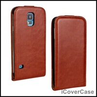 Crazy Horse Flip Leather Case for Samsung Galaxy S5