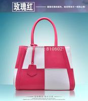 Hot 100% genuine leather bags women handbag 2014 fashion women leather handbags solid color  women messenger bag cowhide F0835