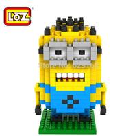Despicable Me Fat Servant Diamond Building Blocks Toys! Loz 9161 DIY Creative Toy. 260Pcs/1Set. Educational Toys. Free Shipping!
