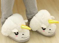 Plush cute 1 pair cartoon Harajuku corner unicorn winter warm soft home floor slippers children holiday toy girl gift