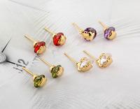 earring fashion crystal stud earrings charms wedding earrings Circular  jewelry free shipping / earring for girl