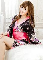 New Style japanese Kimono pajamas nightgown Lingeries G string Women Floral Print Sexy Cosplay Sleepwears Robe