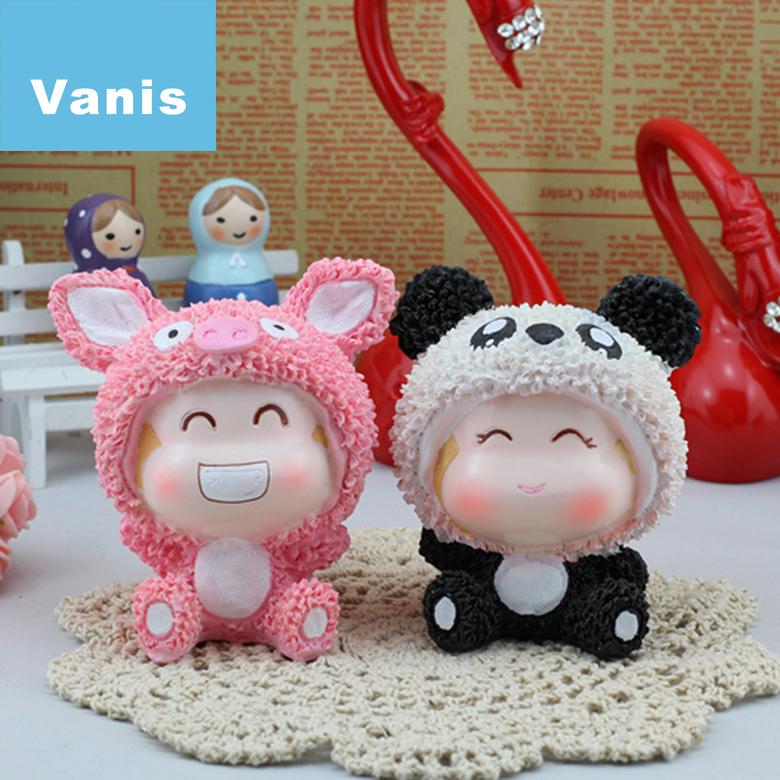 Panda Anime Love 2 Pcs Lovely Pig Panda Animal