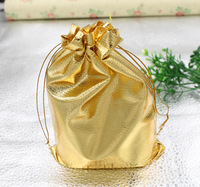 10pcs 13*18cm New Fashion Gold Plated Gauze Satin Jewelry Bags Jewelry Christmas Gift Pouches Bags