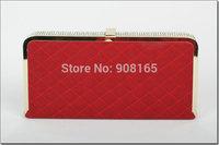 free shipping 3 colors women's pu evening bags fashion plaid bags women M7530