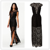 Sexy Cocktail Party Elegant Dresses Women 2014,Big Size Vestido Casual Curto,Vestido Feminino Festa,Short Lace Dress Large Size