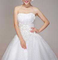 New Korean Qi Bra trailing princess diamond lace bridal dress