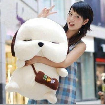 Hot Sale 30CM White Or Light Yellow Cute Lovely Stuffed Toys Korean Dog Plush Toys Brinquedos Factory Price In Stock PT033(China (Mainland))