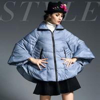 Fashion net colored 2014 fashion batwing type short design down outerwear