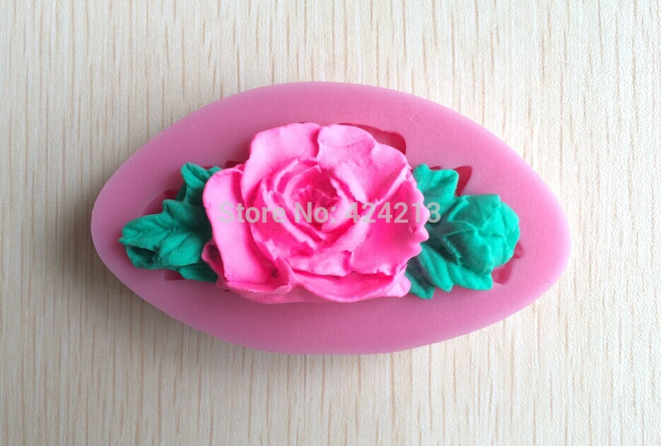 Soft Silicone Brilliant Flower Shaped Mold Color Random For Cake Decoration Cake Tools Drop-P198(China (