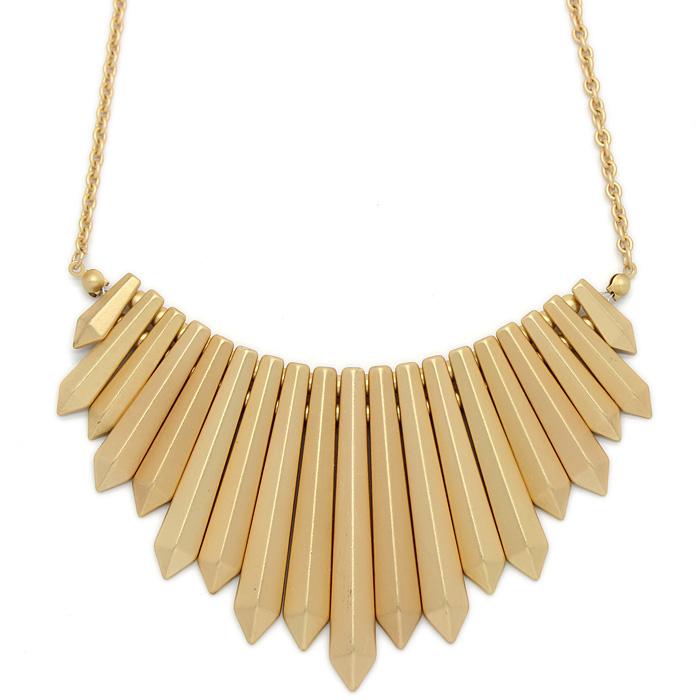 ouro fosco rebite moda qualidade colar boemia 00644 feminino(China (Mainland))