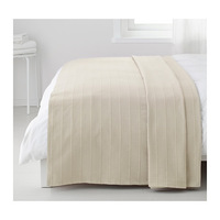 1 piece beige color 250x250cm 100% cotton bedspread