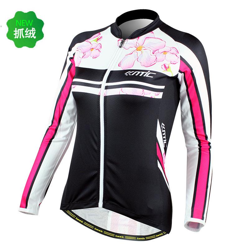 Lc01037 Santic primavera modelos camisa femininas ciclismo visto de mangas compridas camisa ciclismo roupas(China (Mainland))