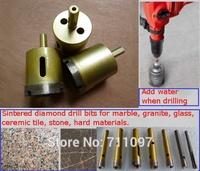 3pcs(diameter cut:40mm) Sintered diamond drill bits for marble, granite, glass, stone, ceramic tile, hard materials.