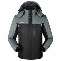 New Men's Outdoor Climbing Coats Waterproof Windproof Jacket Autumn Winter Camping Fishing Sprots Coats Hooded Thick Shell Coat