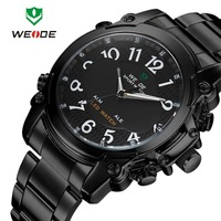 Famous brand dropship military stainless steel 30m water resistant watch date quartz Weide wrist watch for men