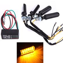 4pcs 12 LED 12V Motorcycle Motorbike Car lED Turn Signal Indicators Amber Light Flasher DOP-3X Free Relay(China (Mainland))