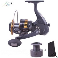 Gapless Spinning Fishing Reel 13BB Double Coil Distant Wheel Metal Handle FD7000-9000 Molinete Pesca Gear 4.0:1 Free Shipping