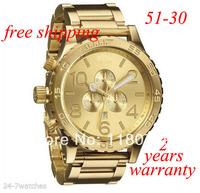 free shipping New CHRONO NIXO 51-30 Chrono All Gold Chronograph Mens Watch A083 502 Watch original brand