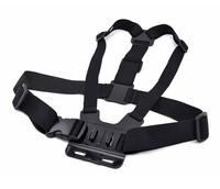 Photo Studio Accessories PANNOVO Front Chest Elastic Belt Shoulder Strap for GoPro Hero 3+ / 3 - Black