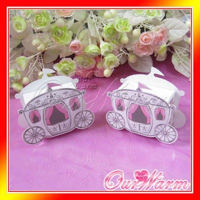 25 pcs/lot, Hot Sale Cinderella Enchanted Carriage Marriage Box Wedding Favor Boxes Gift box Candy box(China (Mainland))