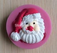 Father Christmas Soft Silicone  Shaped Mold Color Random For Cake Decoration Cake Tools  -P248