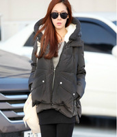 2014 Winter New Coat Fashion  Down Parkas Women Short Slim Thick Solid Military Equipment Hooded Down Jacket  hot sales