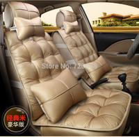 2014 Winter warm cushion fashion down feather car seat cover  for c4 307 308 508 megane lada  car custom full set